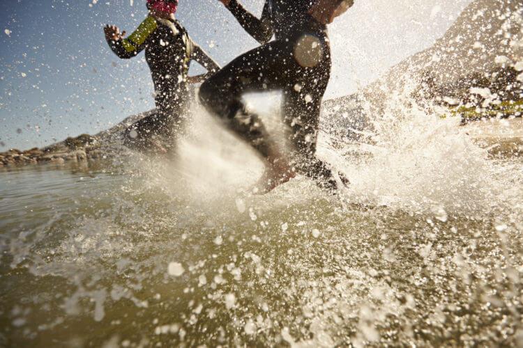 triatlon bieg do wody zmiana