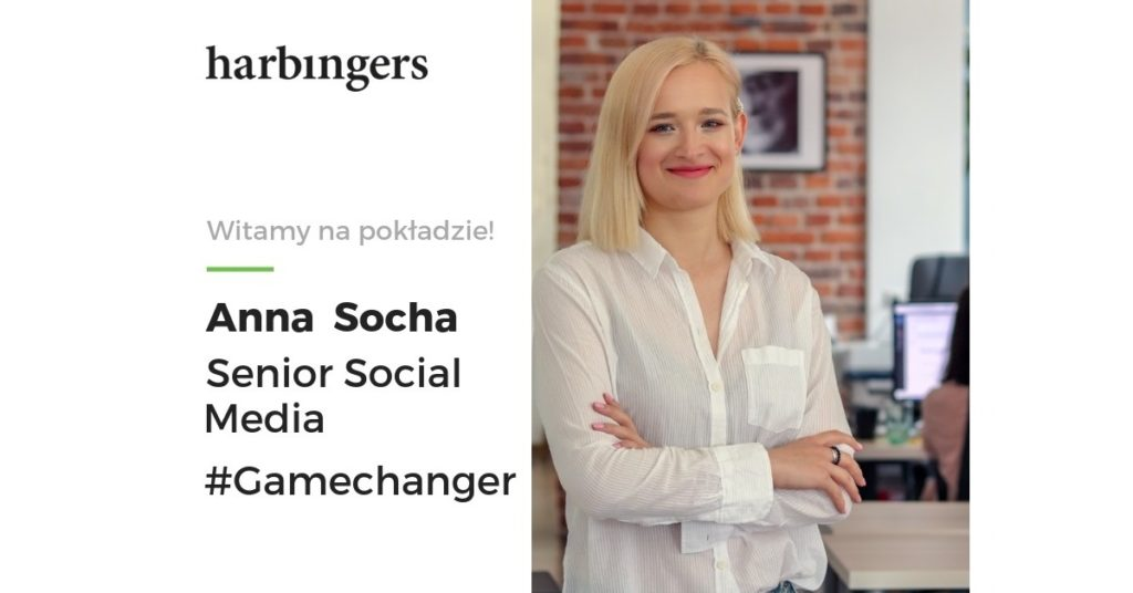 Anna Socha welcome on board