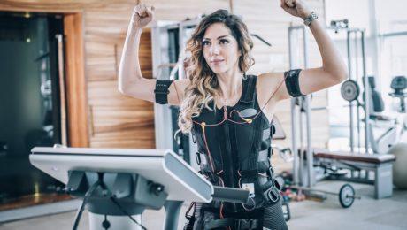 Fitness z czujnikami elektrodami