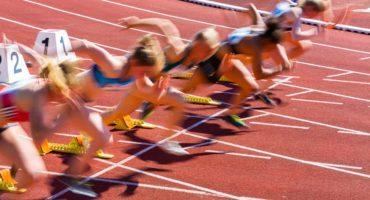 Sprinterzy na starcie współzawodnictwo