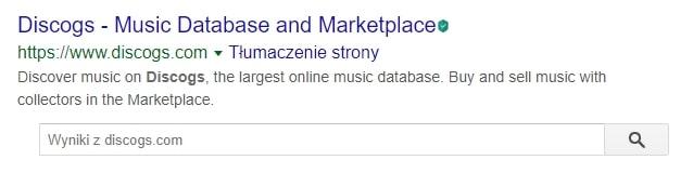 dane strukturalne search box